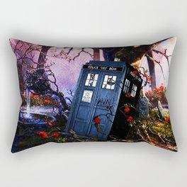 Tardis And Rose Rectangular Pillow