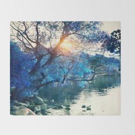 Hope in blue Throw Blanket