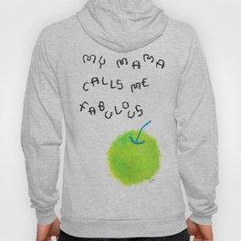 Apple Painting Fruit Illustration Nursery Gift for New Mom - My Mama Calls Me Fabulous Hoody