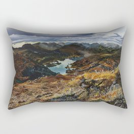 View from Torc Mountain, Killarney National Park, Ireland Rectangular Pillow