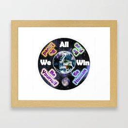 Advent Guard Earth We All Win Framed Art Print