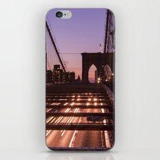 Brooklyn Bridge By Night iPhone & iPod Skin