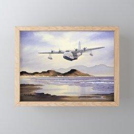 Short Sunderland Aircraft Framed Mini Art Print
