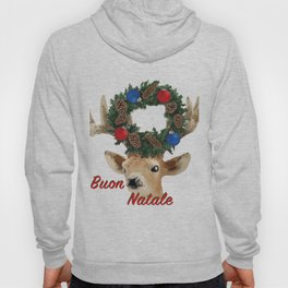 Buon Natale - italiano Merry Christmas Deer Hoody