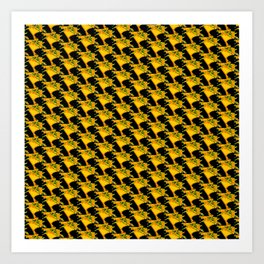Yellow Retro Three Art Print