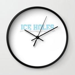 I'm Surrounded By Ice Holes Ice Hockey Ice Skating Wall Clock