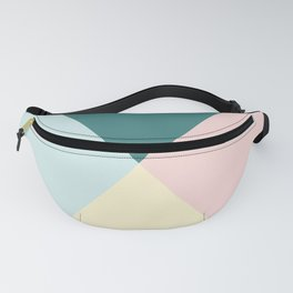 Geometric Green Happy Easter Vibes Fanny Pack