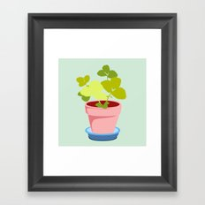 Young Strawberry #2 Framed Art Print