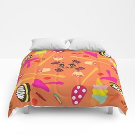candy fashionista cats Comforters