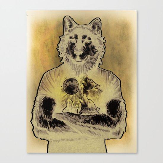 Four Wolf Moon Canvas Print