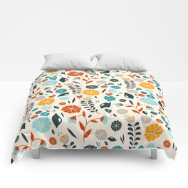 Colorful Spring Flowers Pattern Comforters