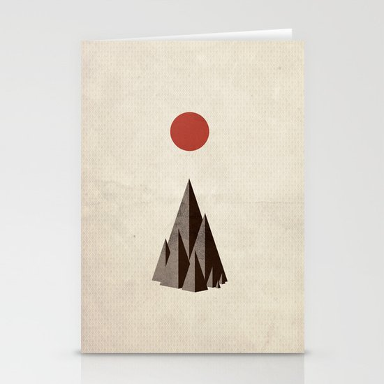 Minimal Mountains Stationery Cards
