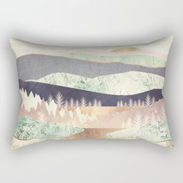 Golden Spring Reflection Rectangular Pillow