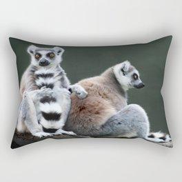Ring Tailed Lemurs Rectangular Pillow