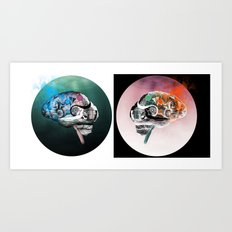 There's Always Two Sides  Art Print