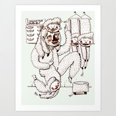 Sheep Obsession Art Print