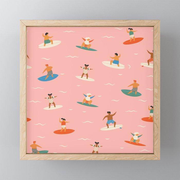 Surf kids Framed Mini Art Print
