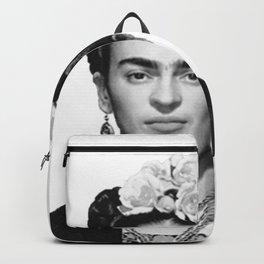 Frida Kahlo Mug Shot Mugshot Backpack