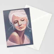 Her Cheeks Glowed with the Constellations of Lovers Stationery Cards