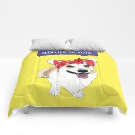 Political Pups - Register To Vote Corgi Comforters