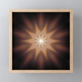 Brown Mandala Star Framed Mini Art Print