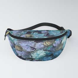 """""""Baroque floral with bugs"""" Fanny Pack"""