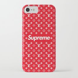 supreme x LV red iPhone Case
