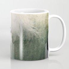 White Peacock Mug