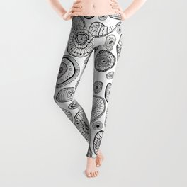 Black and White Eggs Leggings