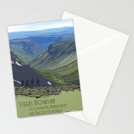 Vintage Poster - Steens Mountain Protection Area, Oregon (2015) Stationery Cards