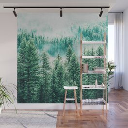 Forest + Fog #photography #nature Wall Mural