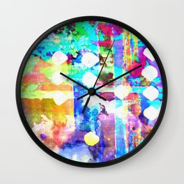 Neon Shore Wall Clock