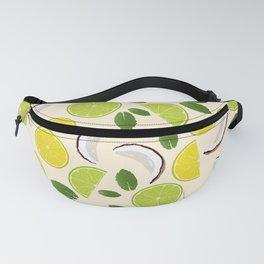 Lime Lemon Coconut Mint pattern Fanny Pack
