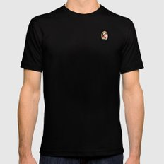 Portrait of a Boston Terrier MEDIUM Mens Fitted Tee Black
