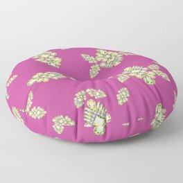 Jewelbox: Citrine Brooch on Dark Lipstick Floor Pillow