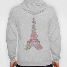 Floral Eiffel Tower Hoody