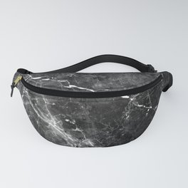 Black Gray Marble #1 #decor #art #society6 Fanny Pack
