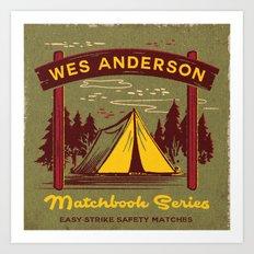 WES ANDERSON MATCHBOOK SERIES Art Print