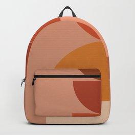 Geometric terracotta IX Backpack