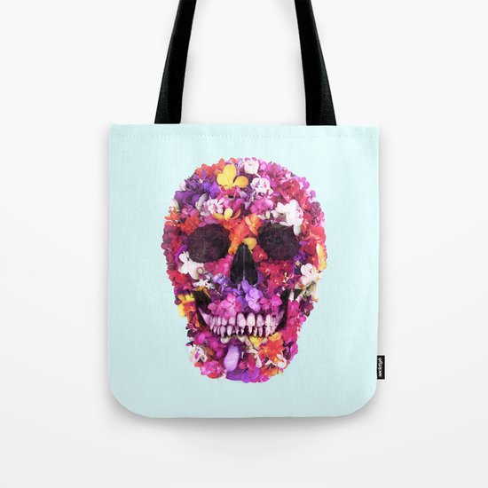 FLOWERS SKULL Tote Bag