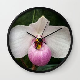 Orchid Size Matters Wall Clock