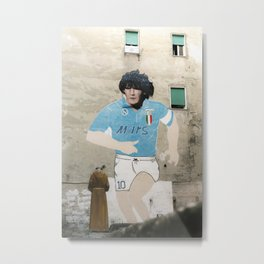 diego in Napoli street art in Naples Maradona Metal Print