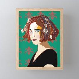 Florentine Spring girl Framed Mini Art Print