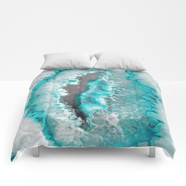Ice Teal Agate Comforters