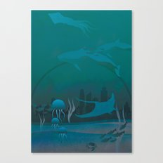 THE DOME - Fantasy | Animals | underwater | Ocean | Sci-fi | Whales | Ocean  Canvas Print
