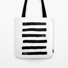 black paint stripes Tote Bag