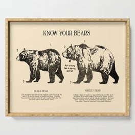 Know Your Bears Serving Tray