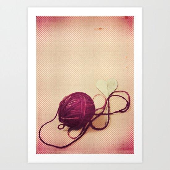 Love is a Tangled Web Art Print
