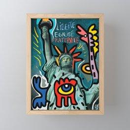 Liberté égalité fraternité Street Art French Graffiti Framed Mini Art Print