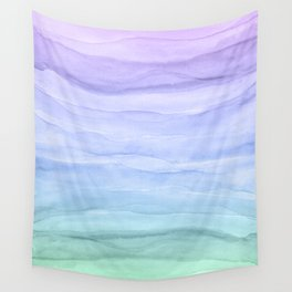 Layers Blue Ombre - Watercolor Abstract Wall Tapestry